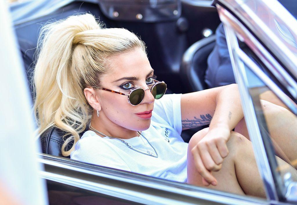 Lady Gaga wearing Moscot Glasses in Belfast